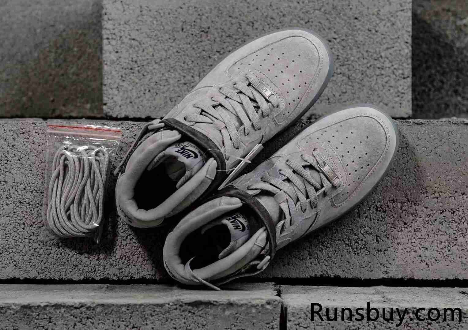 a9f9f08483d2f6 Nike Air Force 1 Mid x Reigning Champ Gray Off White Women Men ...
