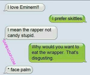 Funny Text About Candy vs. Rapper