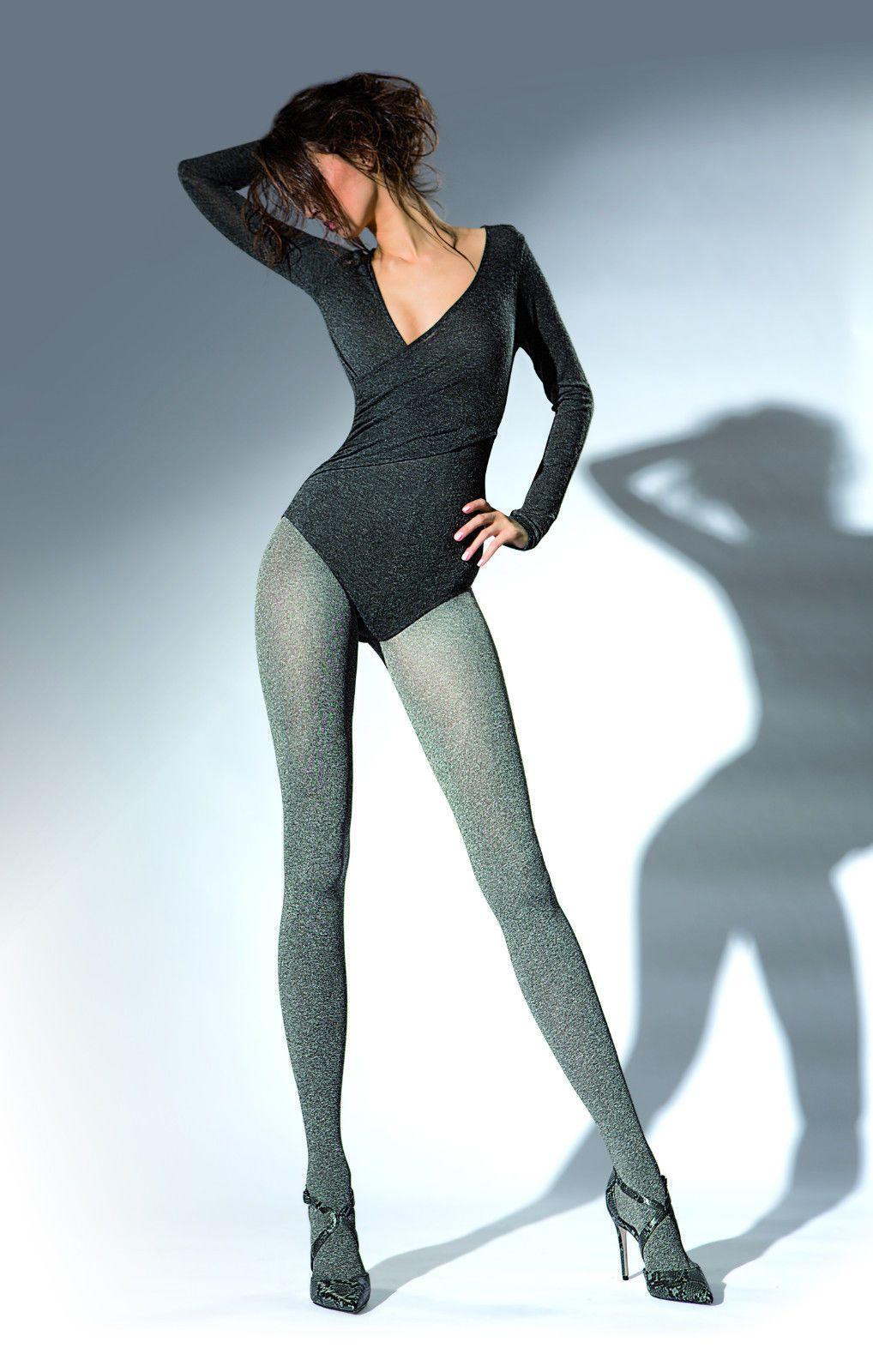 eba6eae823acd 11.60 | Silver Grey melange winter soft daily warm thick 200 den xl Tights  Pantyhose T77 ❤ #silver #grey #melange #winter #soft #daily #warm #thick # tights ...
