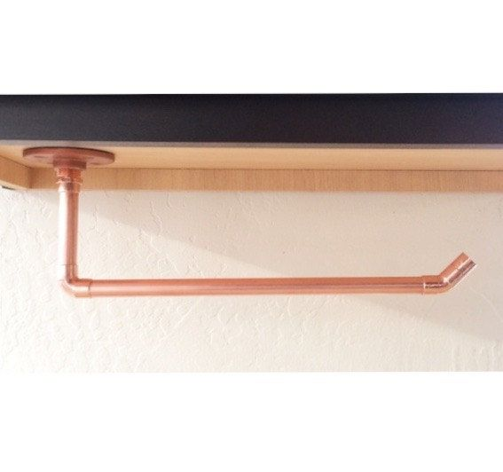 Under The Cabinet Paper Towel Holder Magnificent Industrial Copper Pipe Paper Towel Holder For Under Cabinet  Paper Design Ideas