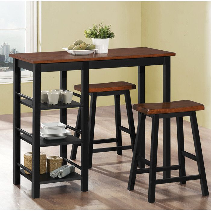 Berrios 3 Piece Dining Set Counter Height Dining Table Set