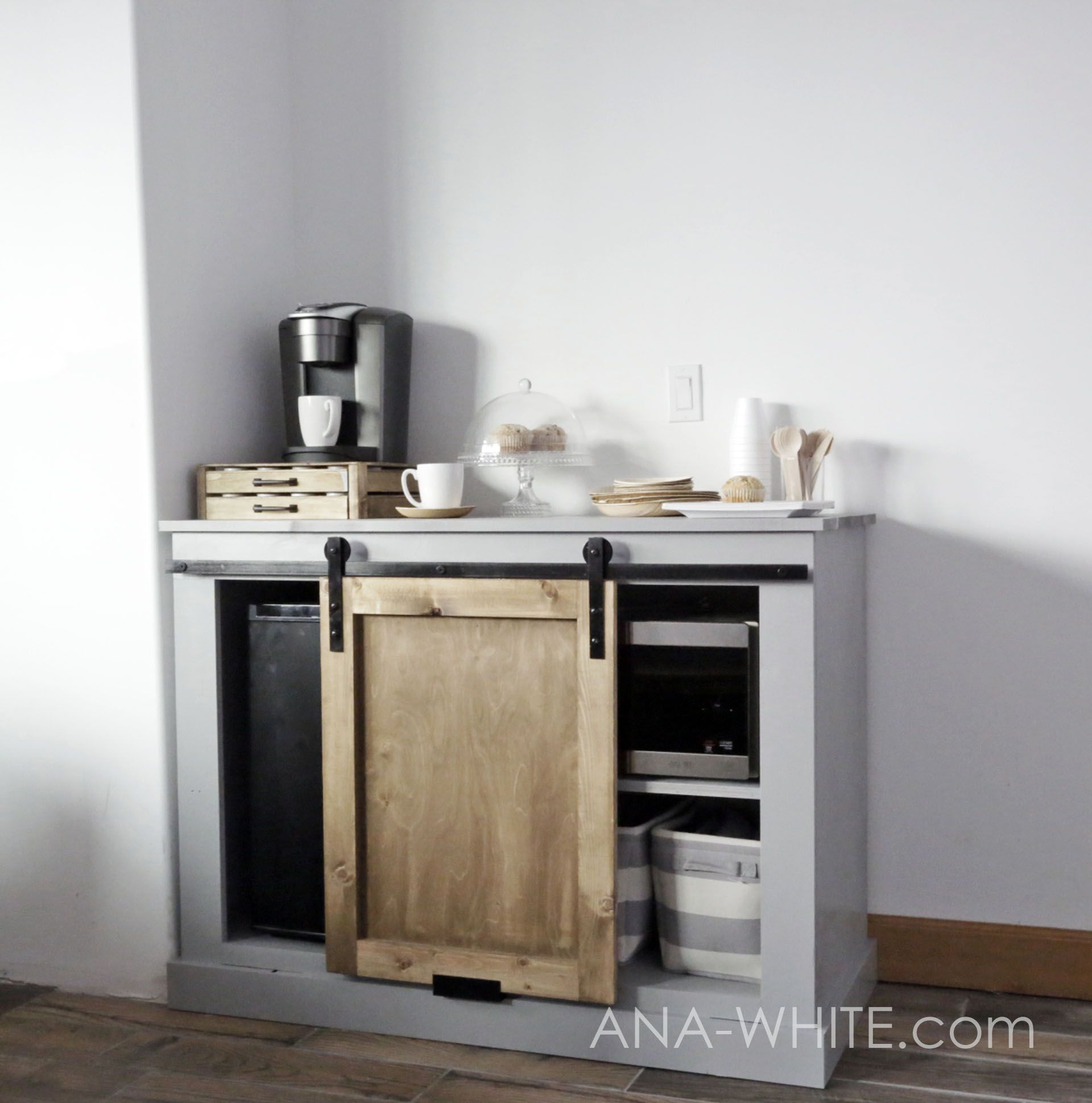 Barn Door Cabinet With Mini Fridge And Microwave Barn Door Cabinet Mini Fridge Cabinet Diy Barn Door Hardware