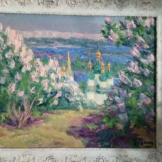 Antique Classic Fine Art, Oil Original Painting by a listed artist S.Dumenko, Summer landscap...,  #Antique #Art #artist #bestukraineflowerdelivery #Classic #fine #landscap #listed #Oil #original #Painting #SDumenko #Summer