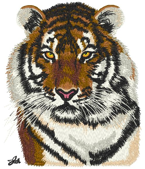 Vol.9_Realistic embroidery designs (Tiger) | Art of ... - photo#33