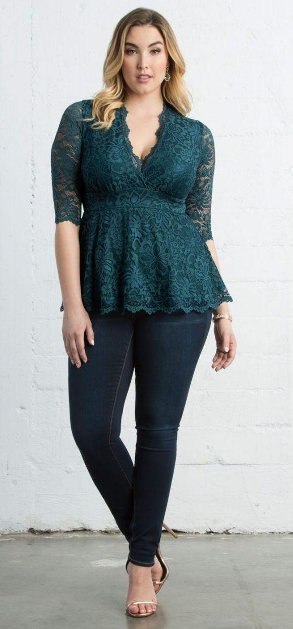Plus Size Lace Top Plus Size Date Night Outfit Idea Plus Size
