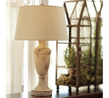 Make Your Own Pottery Barn Inspired Lamp On The Cheap Shabby Chic Lamps Lamp Makeover Farmhouse Style Table