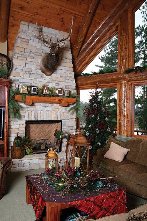 Holiday Fireplace Decor Holiday Decor Pinterest Mantle, Mantle - christmas fireplace decor