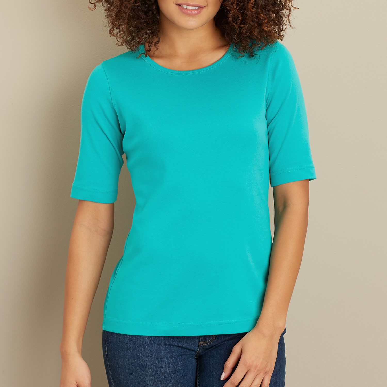 b3087f496 Women's Longtail T® Elbow Sleeve Scoop Neck Shirt has UPF 35 protection  built into the fabric, and it's 2