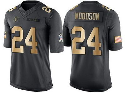 ... usa raiders 24 charles woodson anthracite 2016 christmas gold salute to  service jersey nike oakland raiders 690592bb2