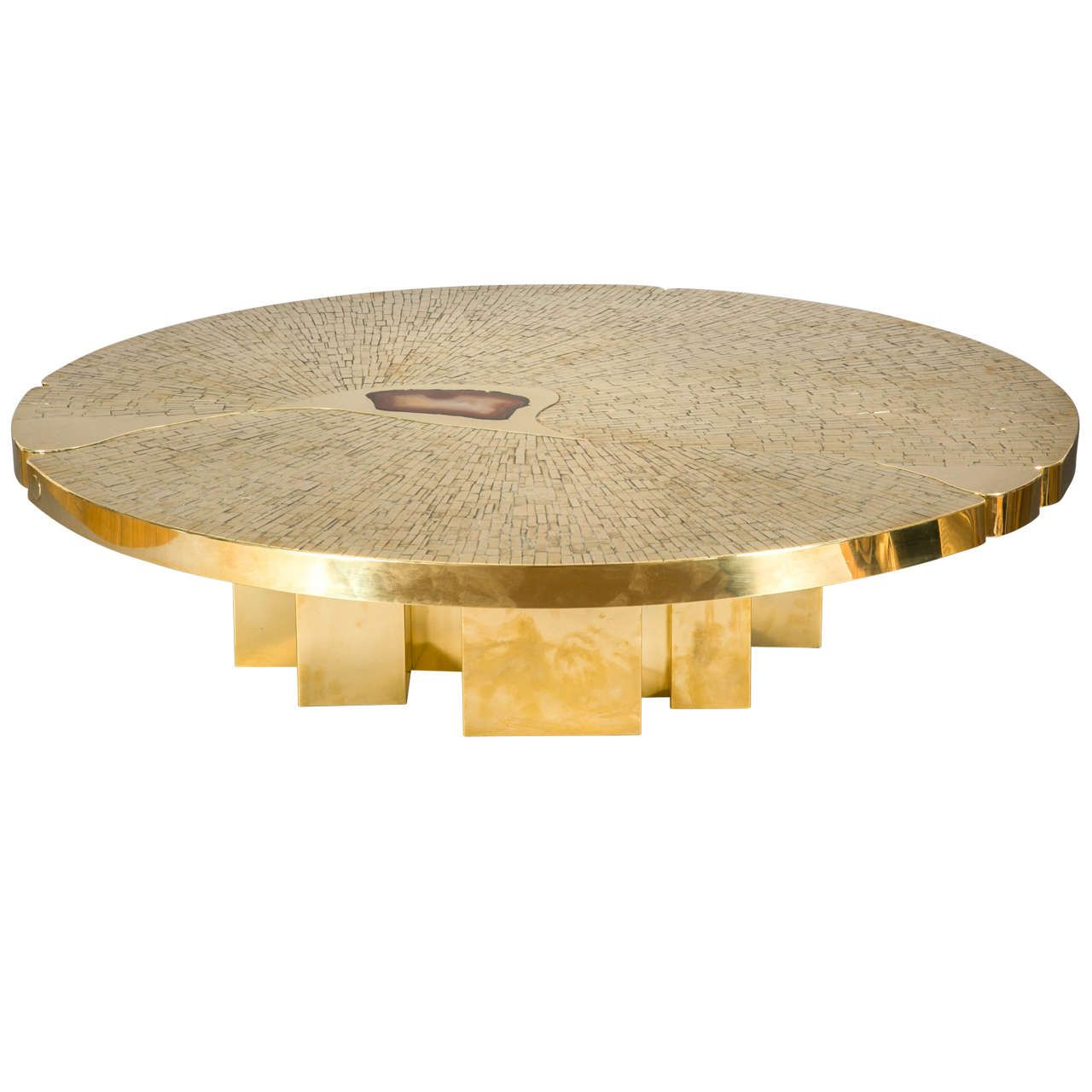 - Circular Coffee Table, 1970, By Jean-Claude Dresse From A Unique