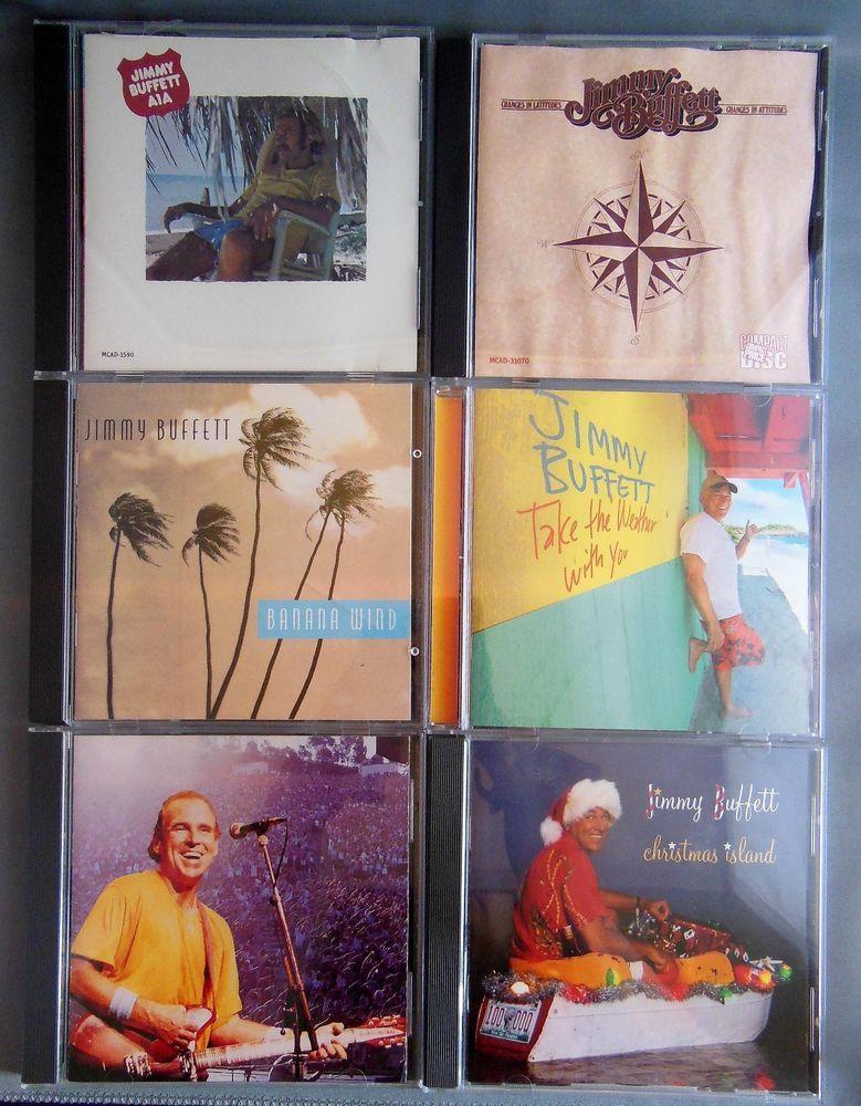 Lot Of 6 Jimmy Buffett CDs Banana Wind Feeding Frenzy A1A Christmas ...
