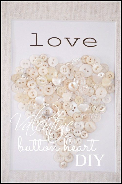 VALENTINE ON HEART DIY   Craft, Heart pictures and on crafts on