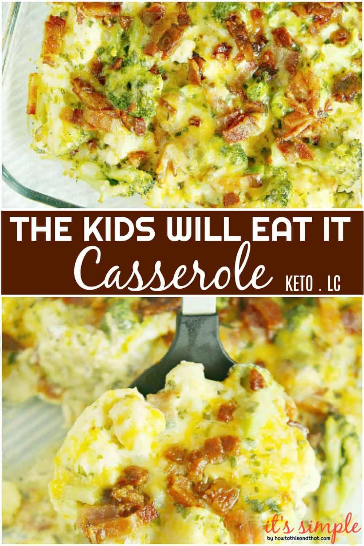 Broccoli Cauliflower Cheese Casserole Keto