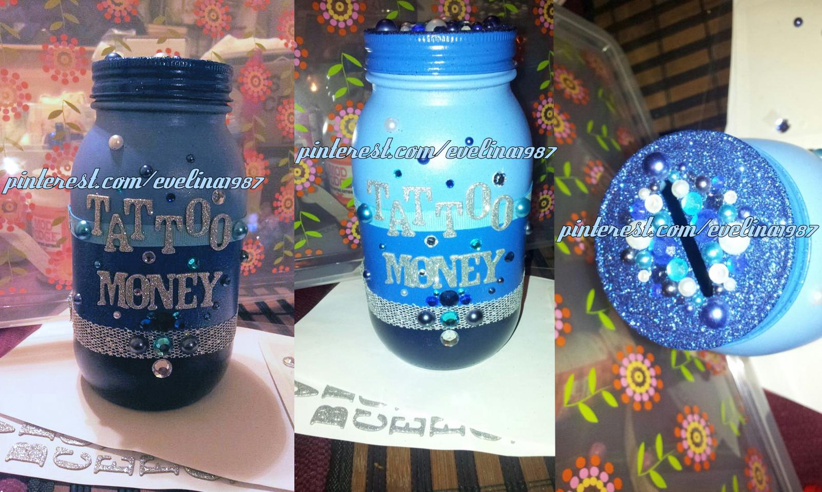 Diy Tattoo Money Jar Mason Jar Michael S Crafts W Coin Slot Lid Etsy I Used Rustoleum Spray Paint Alphabet Stickers From Michael S Whi 07 30 Money