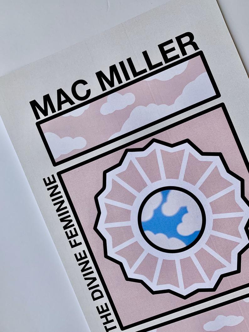 Mac Miller Poster // The Divine Feminine Poster // Mac Miller The Divine Feminine Poster