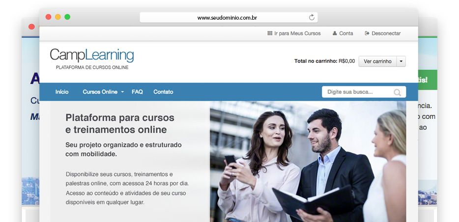 CampLearning - Plataforma EAD para cursos e treinamentos online