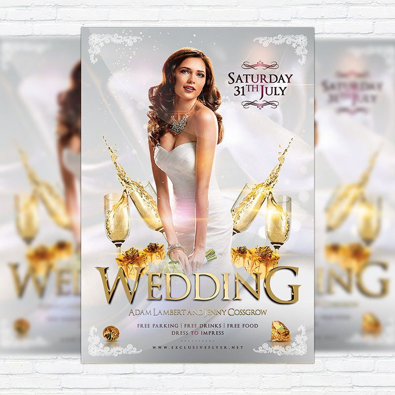 Wedding - Premium Flyer Template + Facebook Cover http - wedding flyer