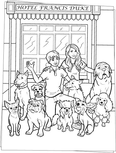Hotel For Dogs Coloring Pages Hotel For Dogs Dog Coloring Page Dog Stencil Dog Hotel