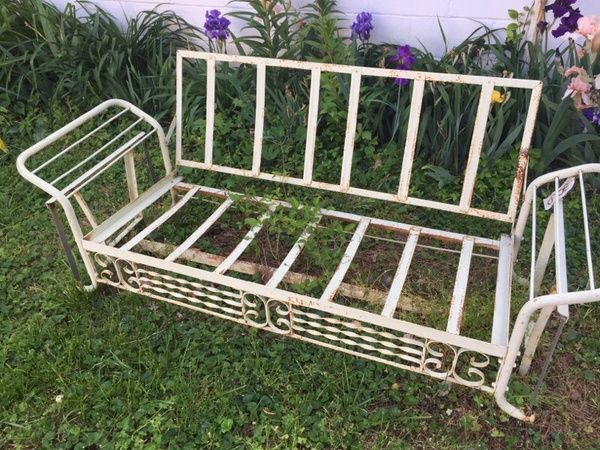 Antique Wrought Iron Glider
