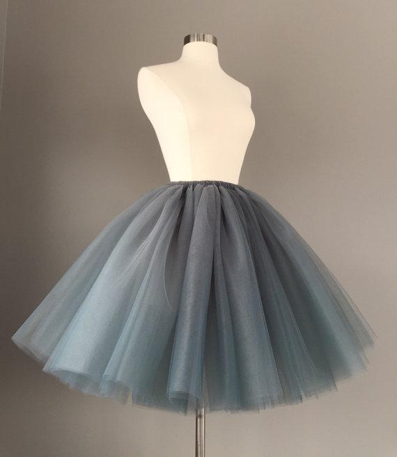 Charcoal Tulle Skirt - Adult Bachelorette Tutu- gray adult tutu, grey adult tulle skirt