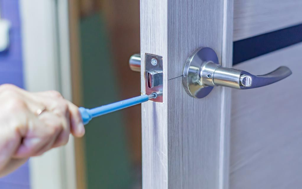 An Inexpensive Way To Prevent Burglars From Kicking In Your Door Is By Installing A Deadbolt Installing Steel Hinges Replacing Prevention Doors Deadbolt