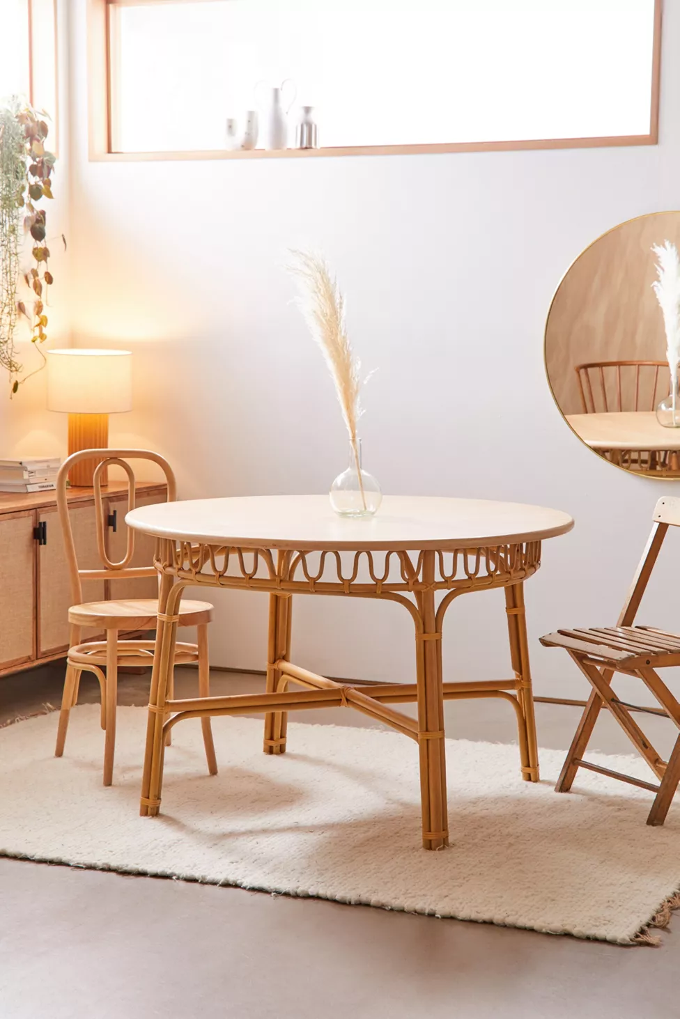 Lulu Dining Table Urban Outfitters In 2020 Rattan Dining Table