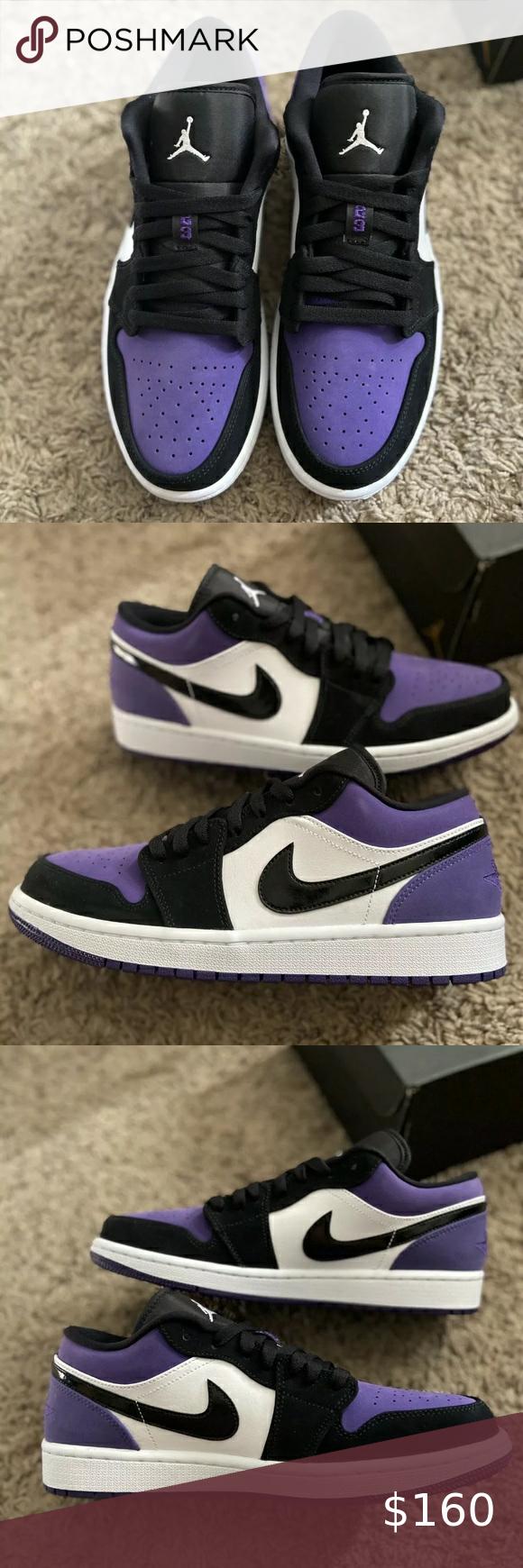 Nike Air Jordan 1 Low Court Purple Nike Air Jordan 1 Low ...