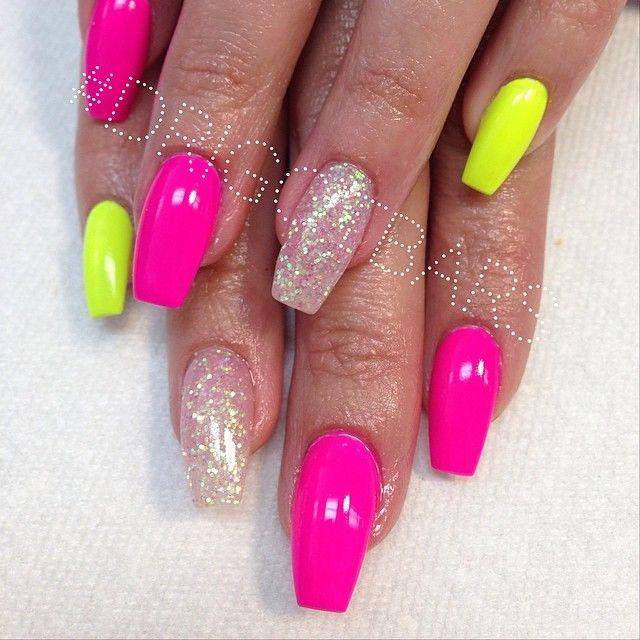 Drigotbars Single Photo Instagrin Yellow Nails Pink Nails