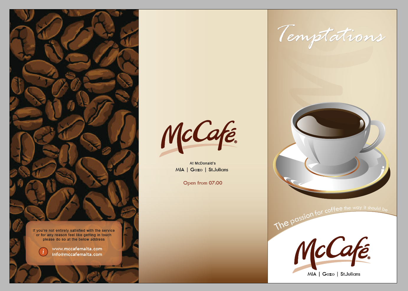 Menu Design Ideas torotoro Mccafe Menu Design _front By Mangiondeviantartcom On Deviantart