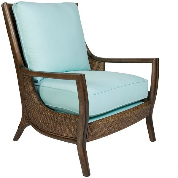 Antigua Cane Lounge Chair Tiffany Blue Accent U0026 Occasional Chairs (6.980  VEF) ❤ Liked