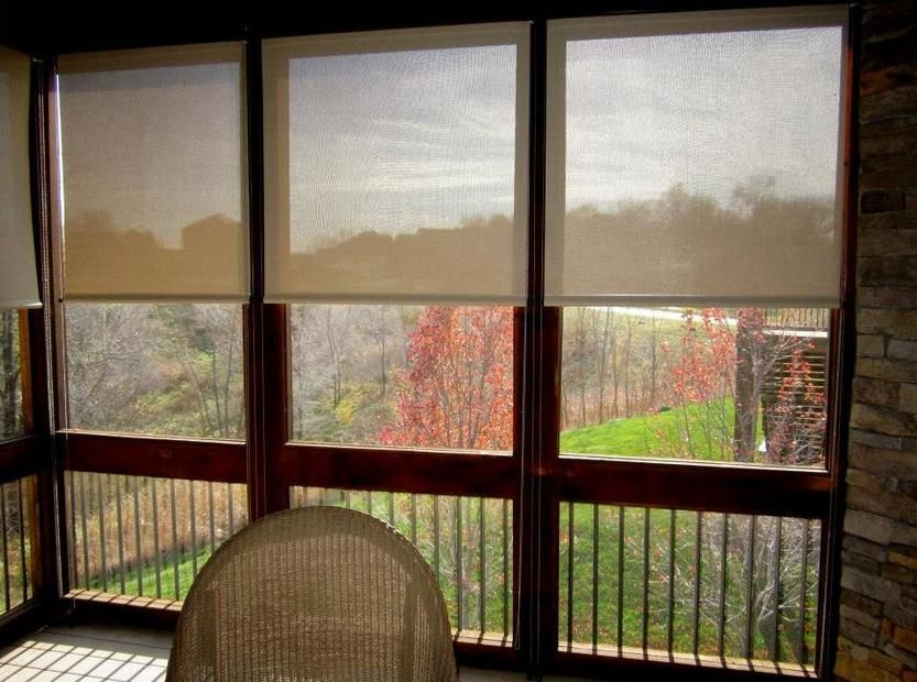 Draper Outdoor Roller Shades Are A Great Addition To Your