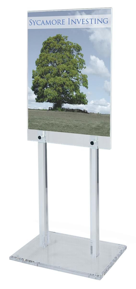 Workshop Series 22 x 28 Poster Stand for Floor, Double Sided, 56 ...
