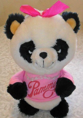 "Shirt Tales Pammy Panda Plush Bear 11"" Stuffed Animal Hasbro Pink Shirt 1981 VTG"