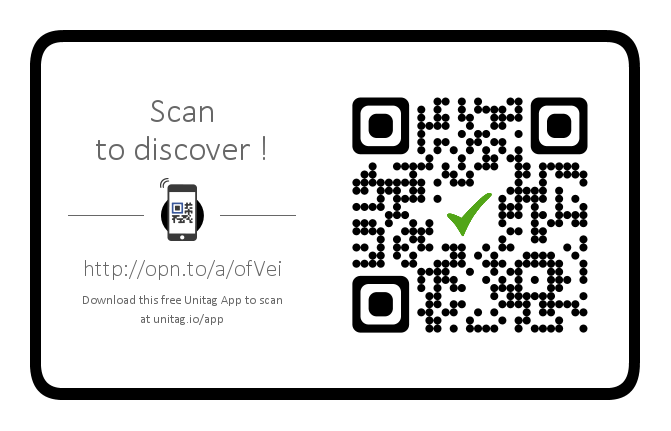 Download this QR code reader application to discover us on