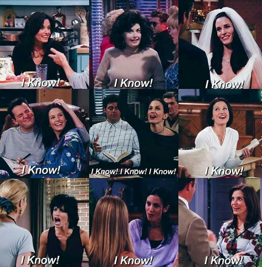 Monica Knows Elenco De Friends Series Y Peliculas Memes Divertidos