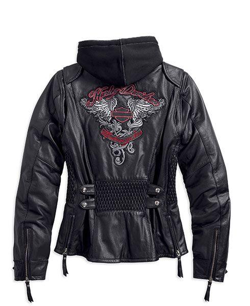 Amelia 3 In 1 Leather Jacket 97189 14vw Harley Jacket Harley Davidson Clothing Harley Davidson Store