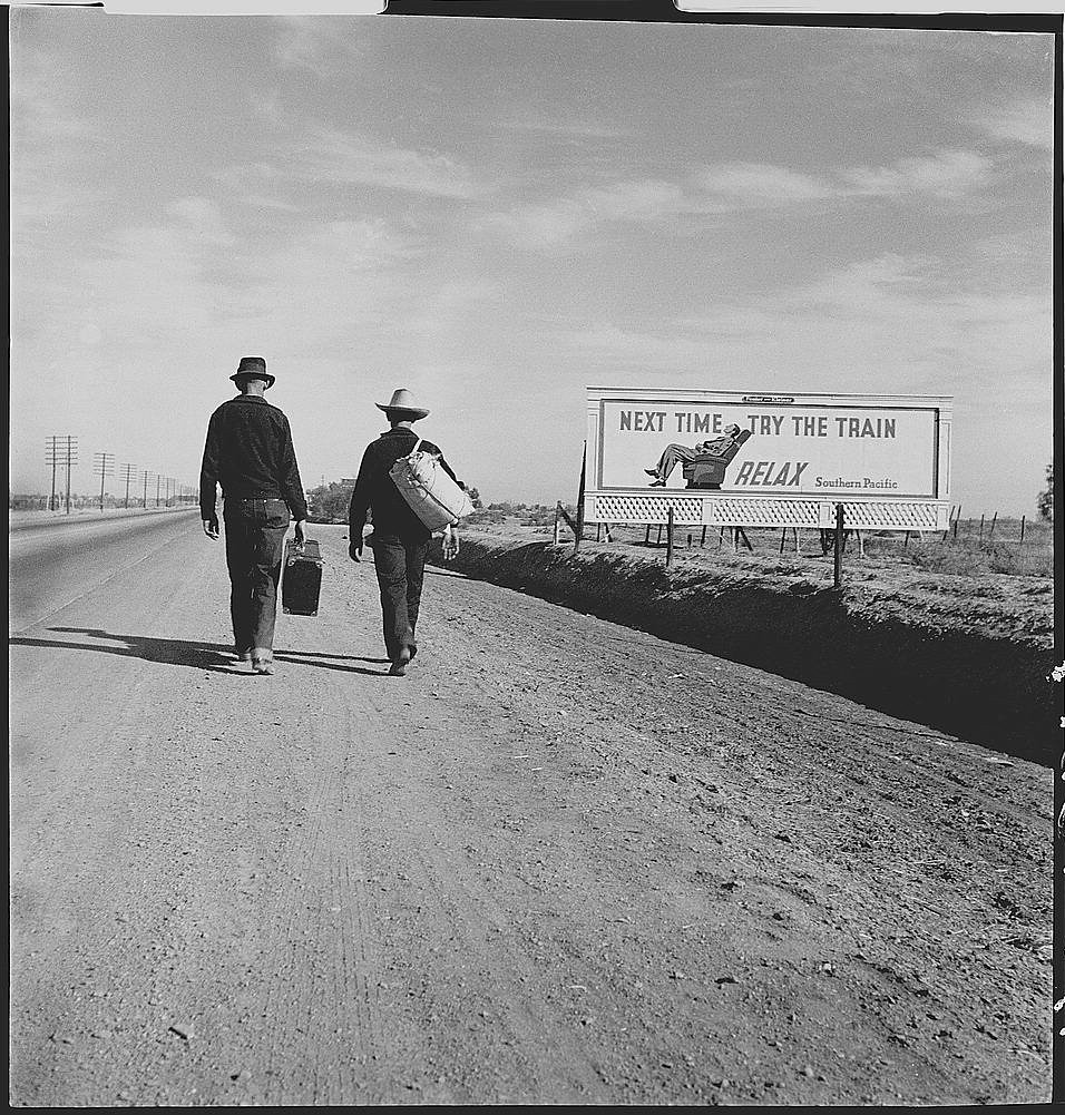 Toward Los Angeles California Loc In 2020 Dorothea Lange Vintage Posters Los Angeles