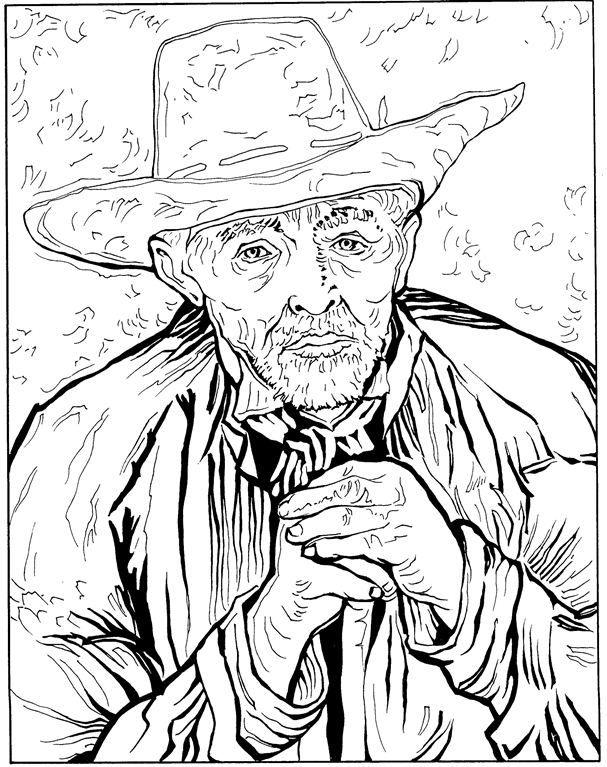 30 vincent van gogh coloring pages - Van Gogh Coloring Book