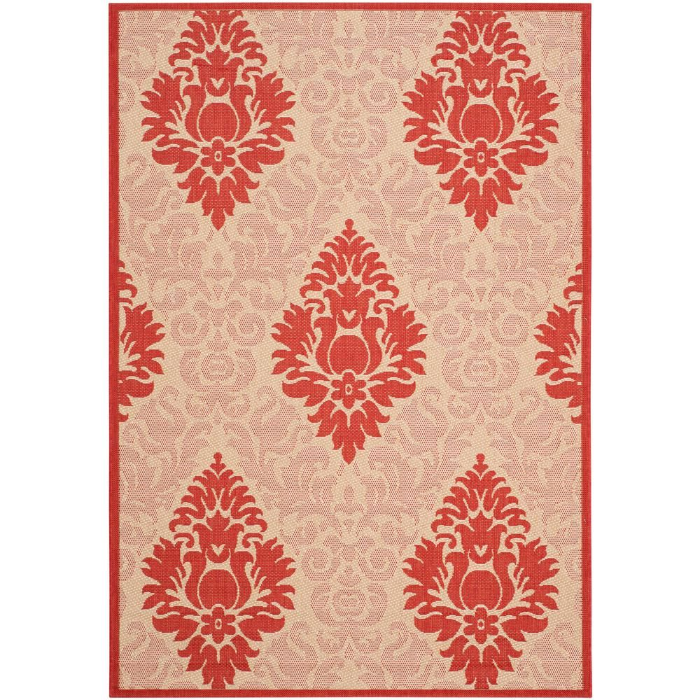 Safavieh Courtyard Chocolate Natural 7 Ft X 10 Ft Indoor Outdoor Rectangle Area Rug Cy2714 3409 6 Coastal Area Rugs Outdoor Rugs Natural Rug