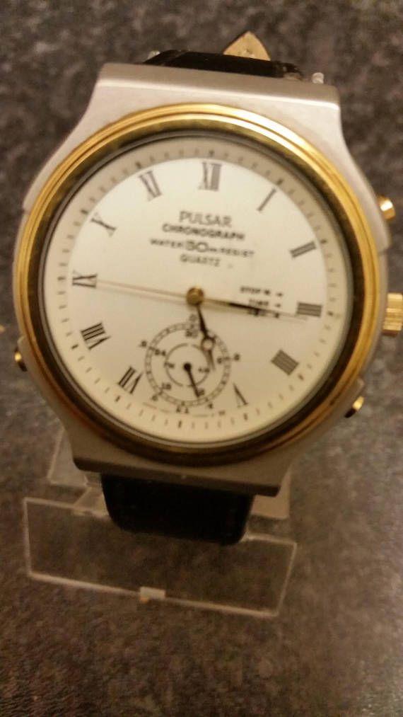 Vintage Pulsar By Seiko Chrono Watch Model V601 0030 Very Seiko Chrono Chrono Watches Watch Model