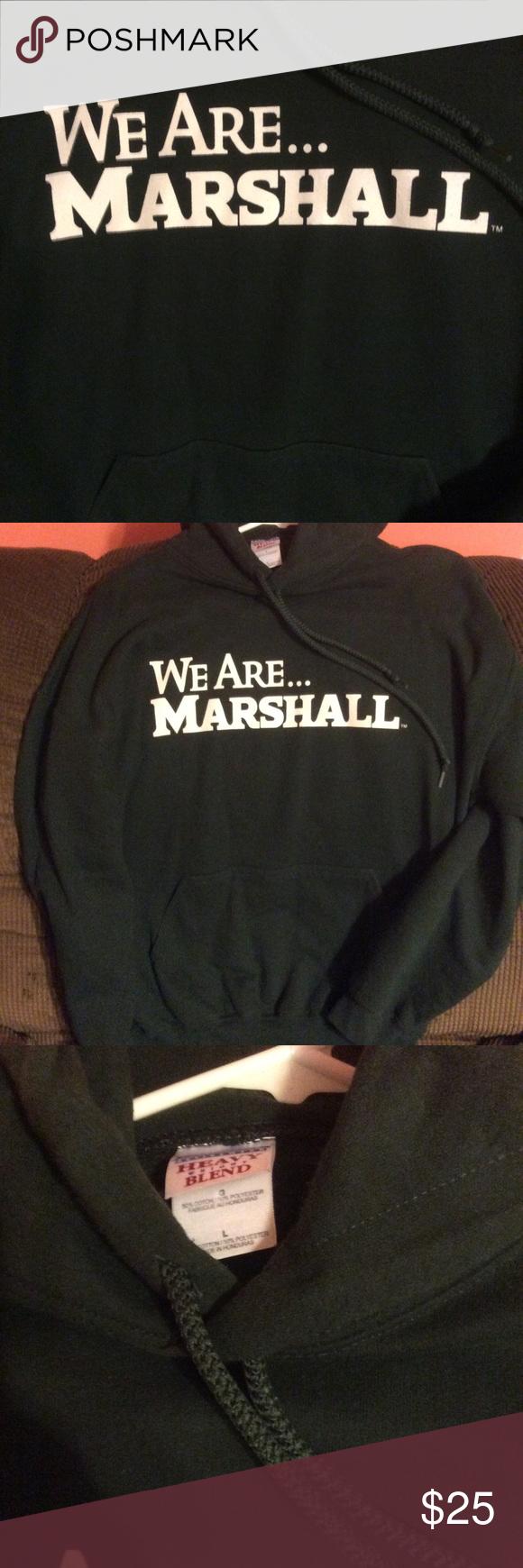Marshall University Hoodie Size L Excellent Condition Worn Once Gildan Shirts Sweatshirts Hoodies Hoodies Sweatshirt Shirt Marshall University [ 1740 x 580 Pixel ]
