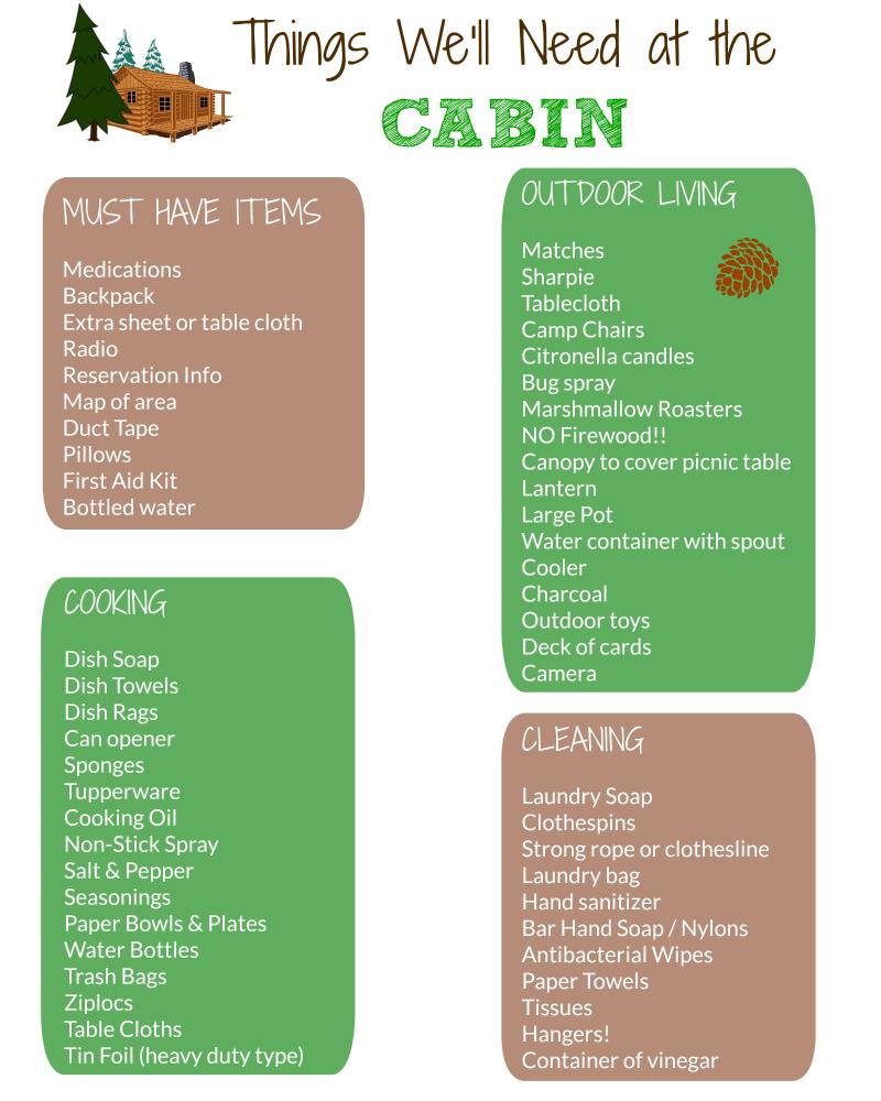 bsa camping list