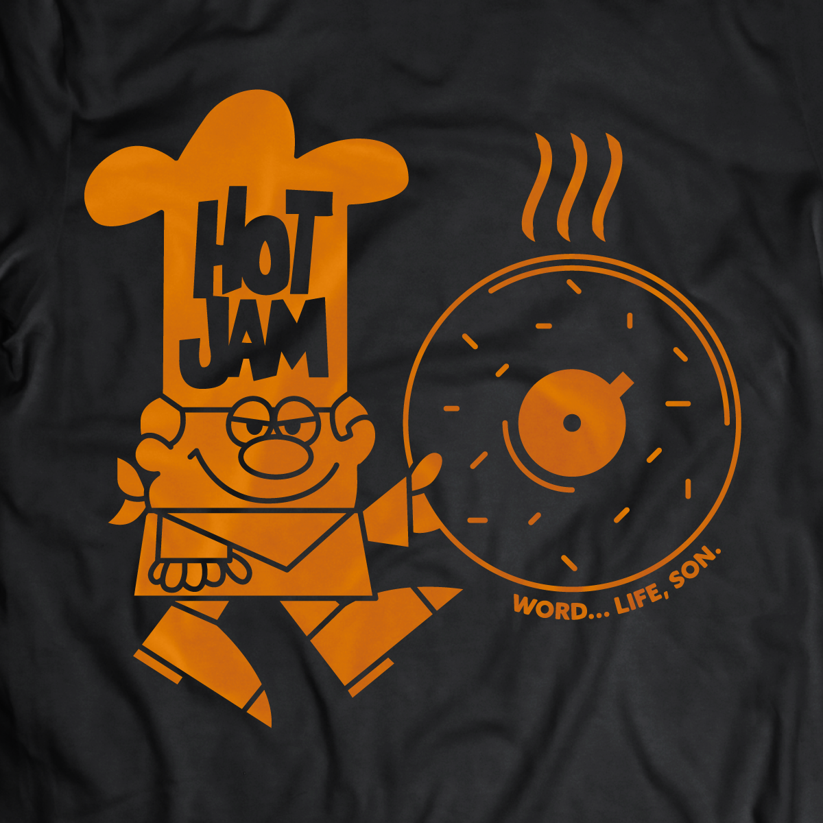 Hot Jam Throwback Black Throwback, Tshirt logo, Retro