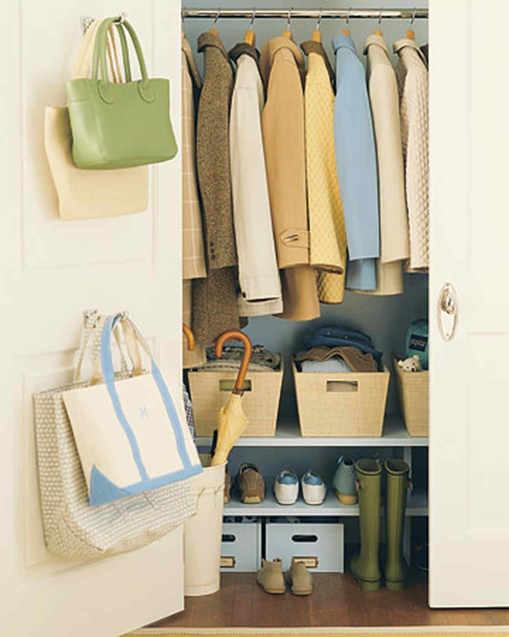 Remove Winter Clothes From Storage Martha Stewart Living Pack - Cool diy coat rack for maximizing closet space