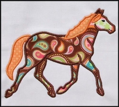 Horse applique design for the hoop by