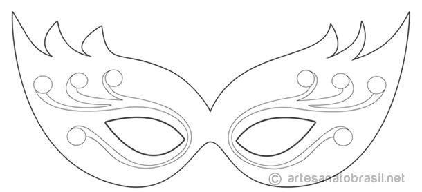 10 Máscaras de Carnaval para Colorir, Pintar e Brincar! (Baixe Aqui ...