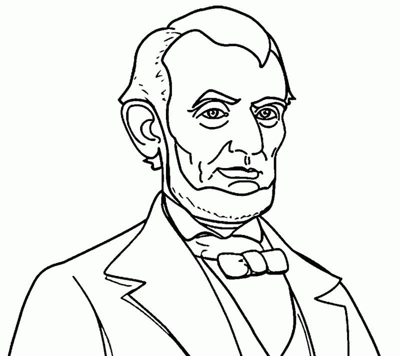 Color Abraham Lincoln From Abraham Lincoln Coloring Pages Category