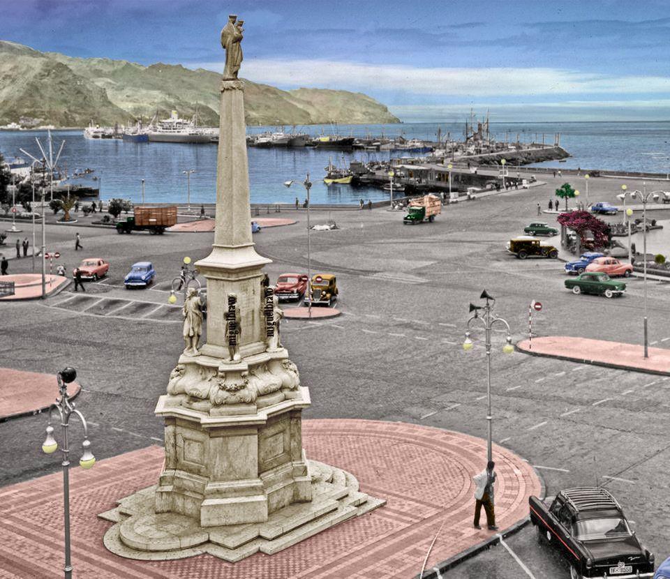 Santa Cruz Plaza De España Año 1954 56 Tenerife Fotos Tenerife Santa Cruz