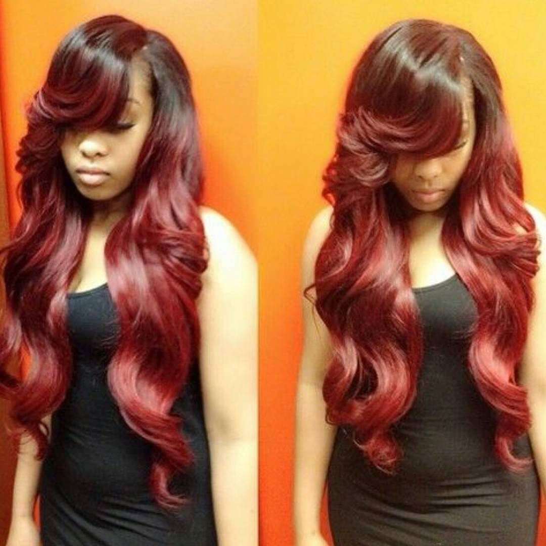 Brazilian Body Wave Hairstyles With Side Bang