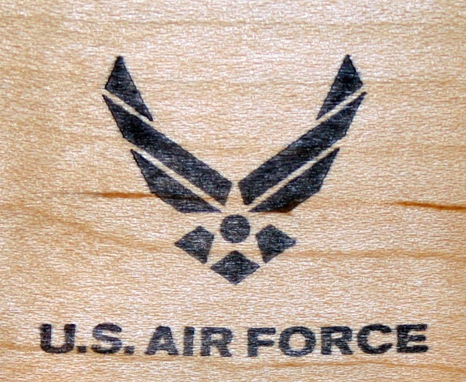 NEW Classic U.S. Military Air Force Logo Mounted Rubber